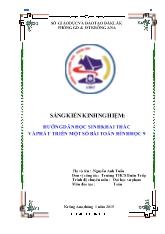 SKKN Hướng dẫn học sinh khai thác và phát triển một số bài toán hình học 9