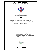 Bìa mẫu - SKKN Một số giải pháp bồi dưỡng năn