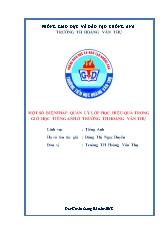 Bìa SKKN - Một số biện pháp quản lý lớp học h