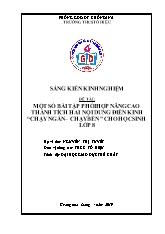 SKKN Một số bài tập phối hợp nâng cao thành t