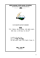 SKKN Một số phương pháp giải phương trình ngh